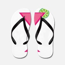 Pink Cocktail With Lime Flip Flops