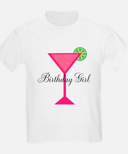 Birthday Girl Pink Cocktail T-Shirt