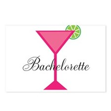 Bachelorette Pink Cocktail Postcards (Package of 8