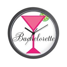 Bachelorette Pink Cocktail Wall Clock