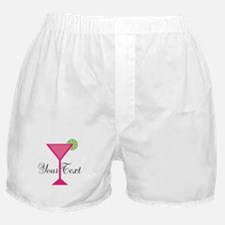 Personalizable Pink Cocktail Boxer Shorts