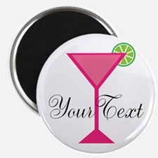 Personalizable Pink Cocktail Magnets