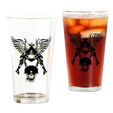 Army Skull Drinking Glass