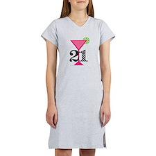 21st Birthday Pink Cocktail Women's Nightshirt
