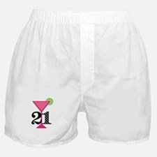 21st Birthday Pink Cocktail Boxer Shorts
