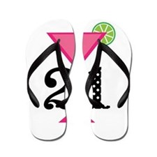 21st Birthday Pink Cocktail Flip Flops
