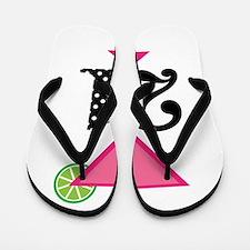 21st Birthday Pink Cocktail Flip Flops