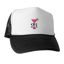 21st Birthday Pink Cocktail Trucker Hat