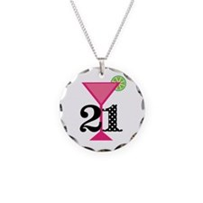 21st Birthday Pink Cocktail Necklace