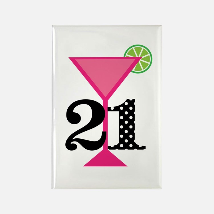 21st Birthday Pink Cocktail Magnets