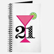 21st Birthday Pink Cocktail Journal