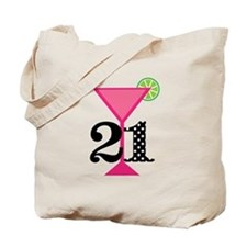 21st Birthday Pink Cocktail Tote Bag
