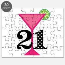 21st Birthday Pink Cocktail Puzzle