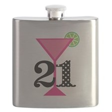 21st Birthday Pink Cocktail Flask
