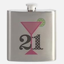 21st Birthday Pink Cocktail Flask
