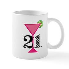 21st Birthday Pink Cocktail Mugs