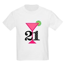 21st Birthday Pink Cocktail T-Shirt