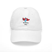 Birthday Boy Red and Blue Plane Baseball Baseball Cap