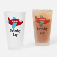 Birthday Boy Red and Blue Plane Drinking Glass