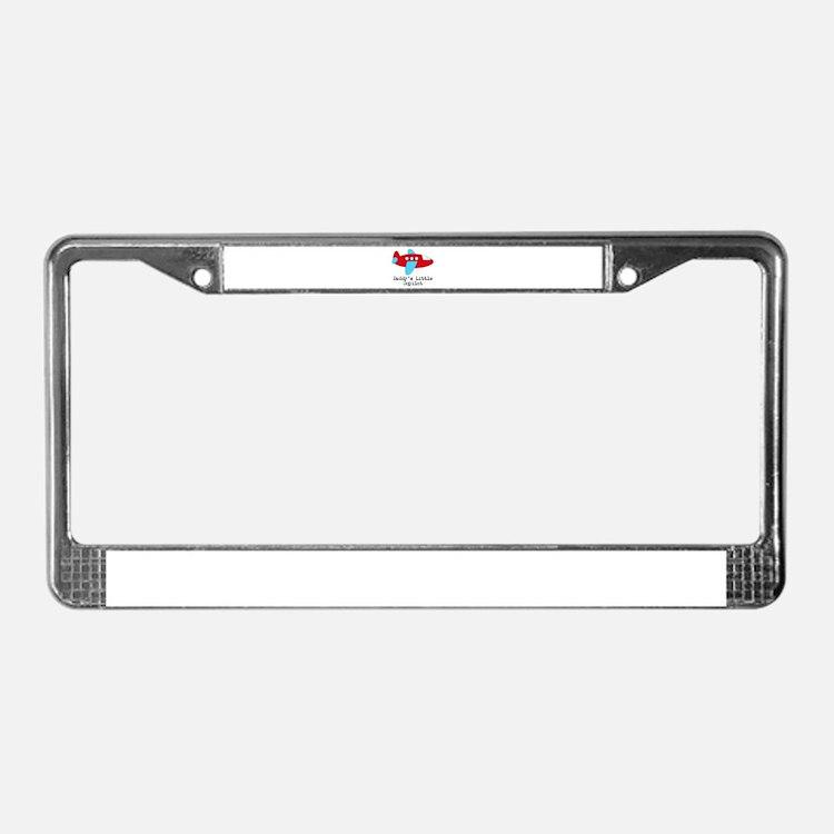 Daddys Little Copilot License Plate Frame