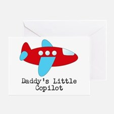 Daddys Little Copilot Greeting Cards