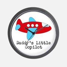 Daddys Little Copilot Wall Clock