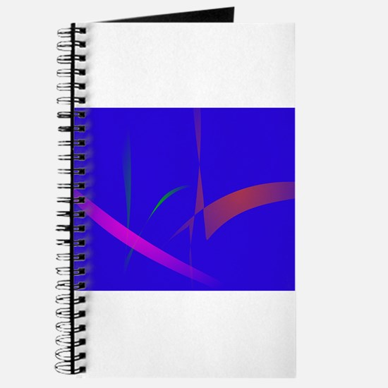 Simple Blue Abstract with Slashing Colors Journal