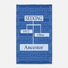 Genealogy Ancestor Seeking 3'x5' Area Rug