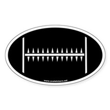 Football Oval Car Decal