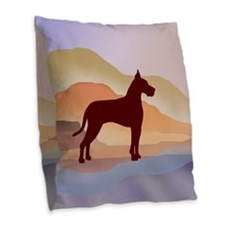Mountain Mirage Great Dane Burlap Throw Pillow