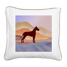 Mountain Mirage Great Dane Square Canvas Pillow