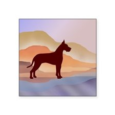 "Mountain Mirage Great Dane Square Sticker 3"" x 3"""