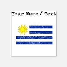 Custom Distressed Uruguay Flag Sticker
