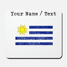 Custom Distressed Uruguay Flag Mousepad