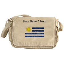 Custom Distressed Uruguay Flag Messenger Bag
