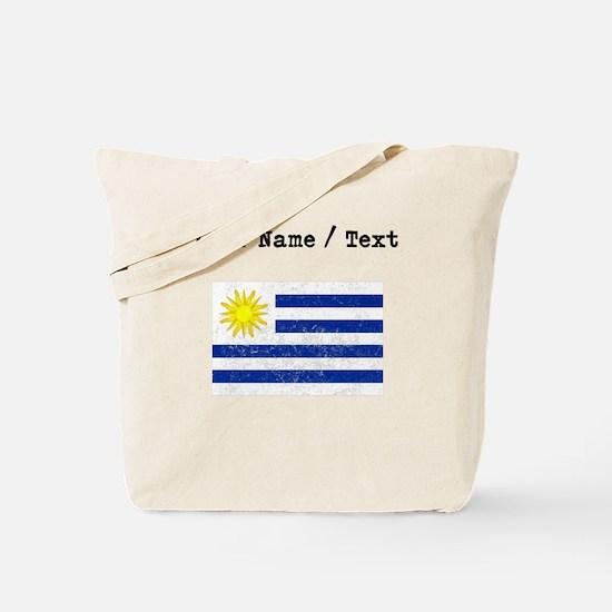 Custom Distressed Uruguay Flag Tote Bag
