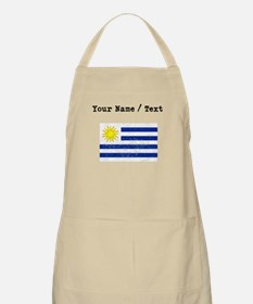 Custom Distressed Uruguay Flag Apron