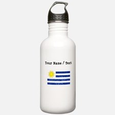 Custom Distressed Uruguay Flag Water Bottle