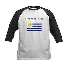 Custom Distressed Uruguay Flag Baseball Jersey