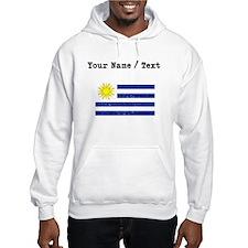 Custom Distressed Uruguay Flag Hoodie