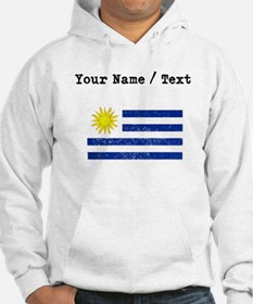 Custom Distressed Uruguay Flag Hoodie