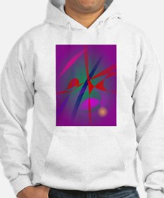 Fire and Calmness Abstract Expression Hoodie