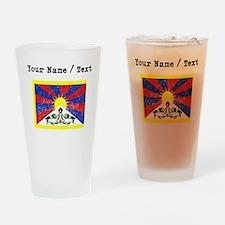 Custom Distressed Tibet Flag Drinking Glass