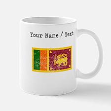 Custom Distressed Sri Lanka Flag Mugs