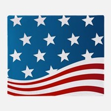 American Flag Throw Blanket