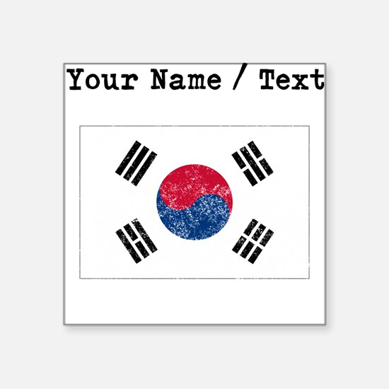 Custom Distressed South Korea Flag Sticker