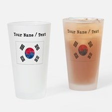 Custom Distressed South Korea Flag Drinking Glass