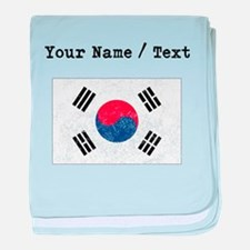 Custom Distressed South Korea Flag baby blanket
