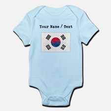 Custom Distressed South Korea Flag Body Suit