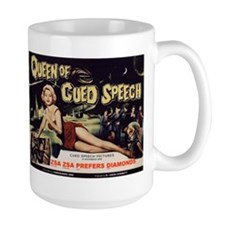 """Queen of Cued Speech"" Large Handle Mug"
